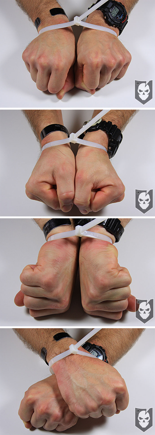 Hand Positions to Escape from Zip Ties
