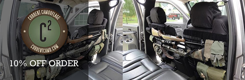 Current Camo Tactical MOLLE Seat Covers