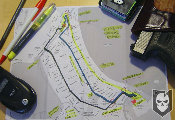 Personal Security Detail Maps and Routes