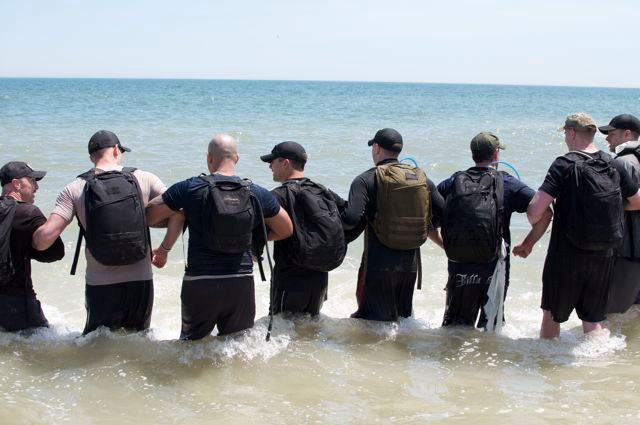 GORUCK in water