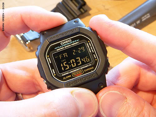 G-Shock DW-5600 DIY Negative Display