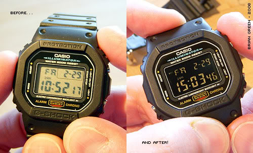 G-Shock DW-5600 DIY Negative Display
