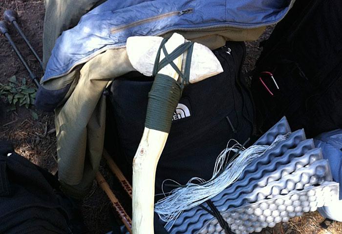 Bryan's wooden axe