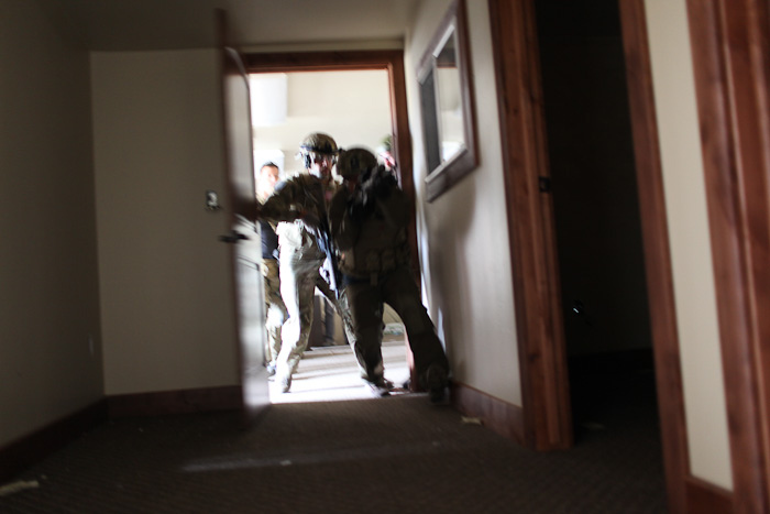 entering a secured home