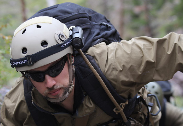 bryan black making his way up to the mountain to gather important operational intel