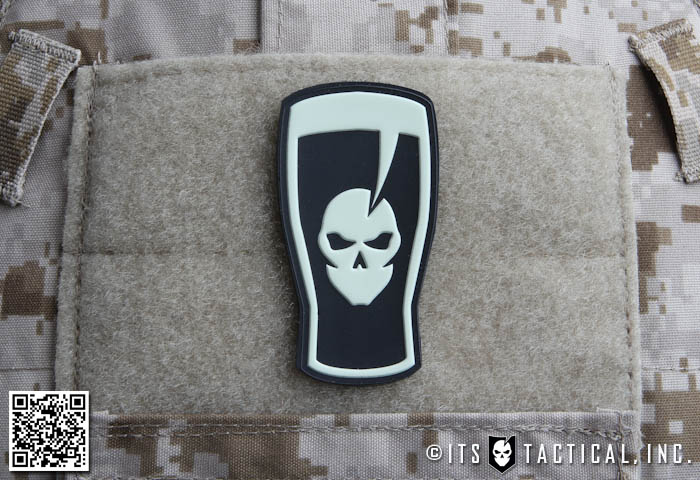 PVC Pint Glass Morale Patch