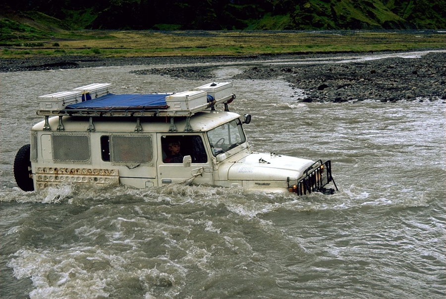 Land Cruiser Water Crossing