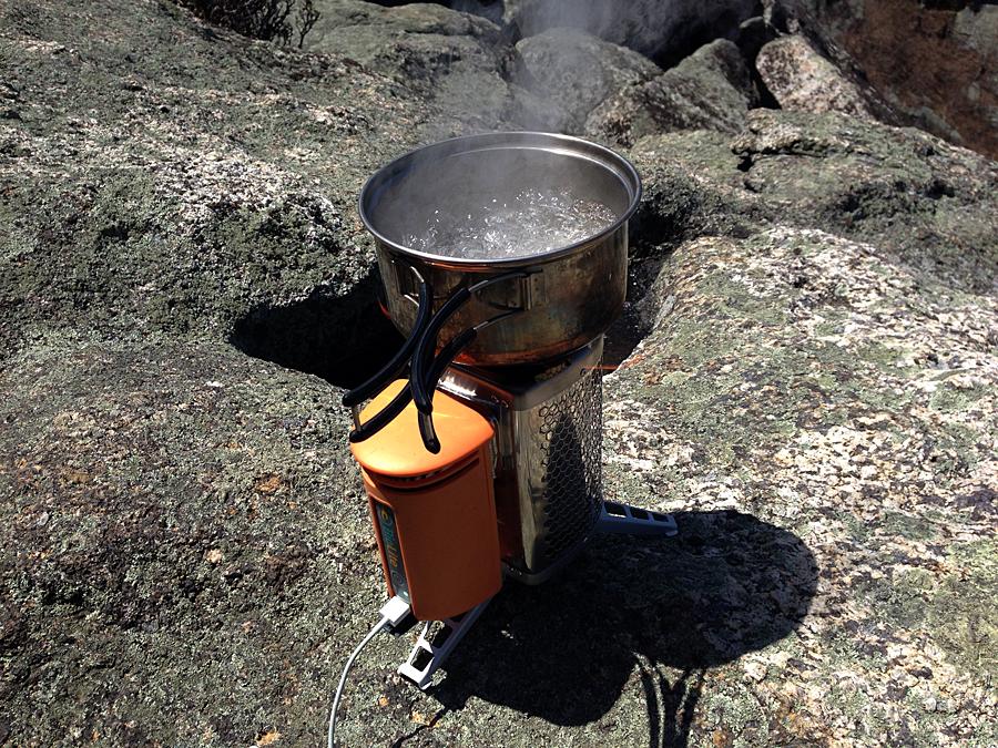 BioLite CampStove boiling water
