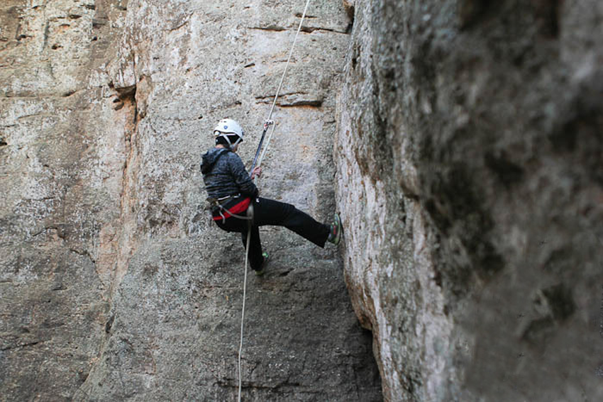 Rappelling at Muster