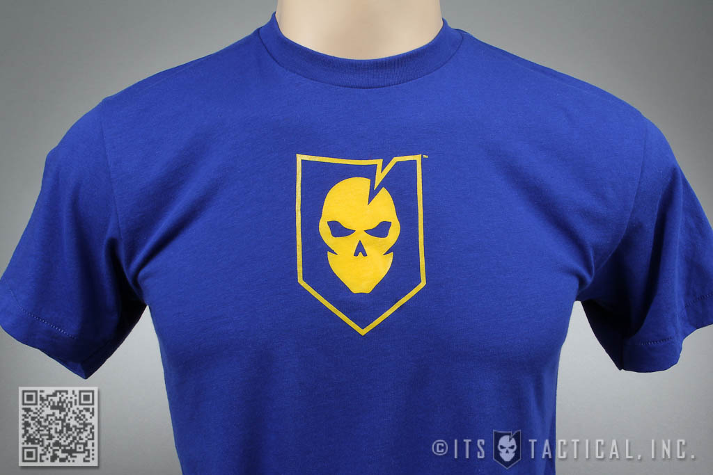 ITS Logo T-Shirt Blue and Gold 01