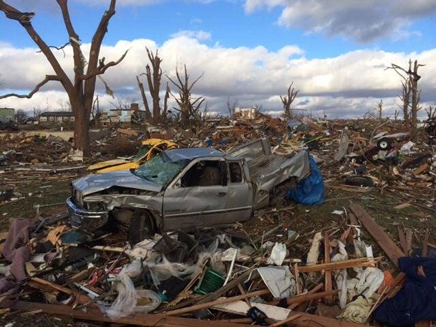 Illinois Tornado Damage Photo by Jake Behyl via Shawn Reynolds
