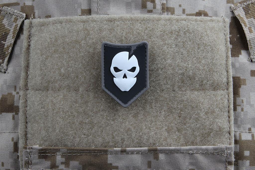 Black/White/Grey ITS Mini PVC Logo Morale Patch