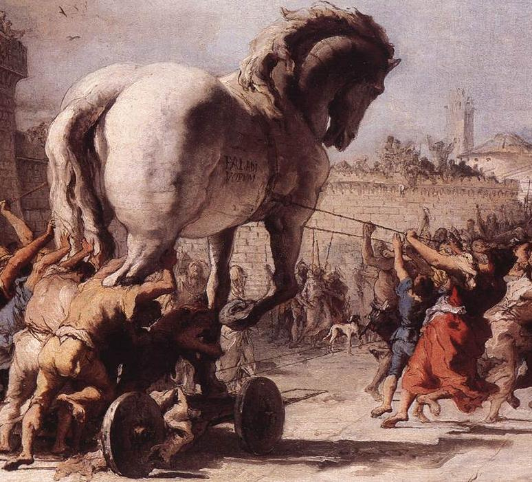 The Procession of the Trojan Horse