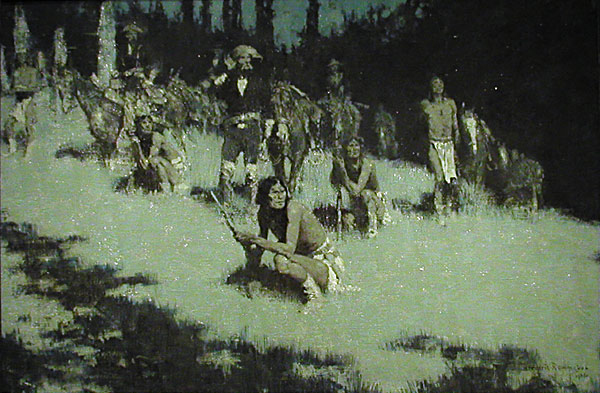 Apache Scouts Listening by Frederic Remington