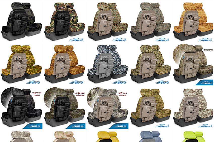 Current Camo MOLLE Seat Covers