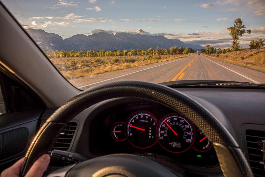Skunkabilly Driving Grand Tetons