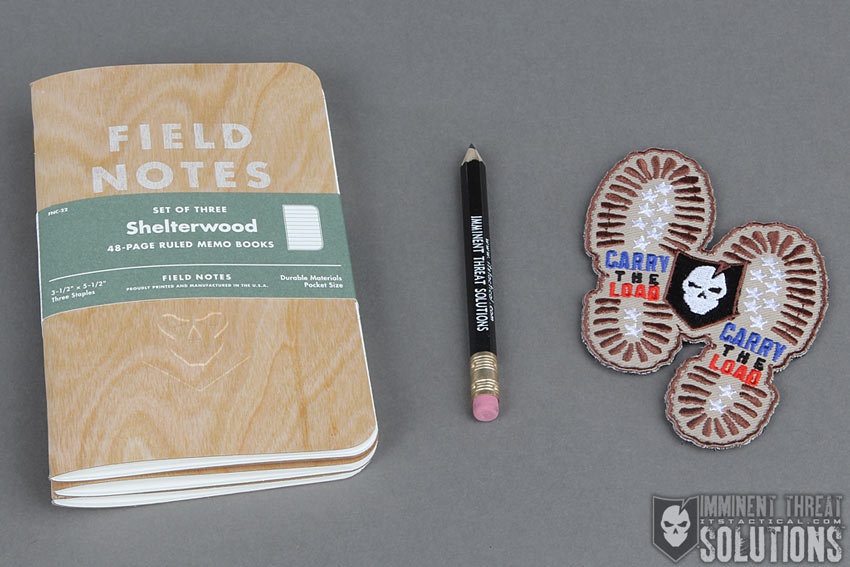 ITS Embossed Shelterwood Field Notes and Carry The Load Morale Patch