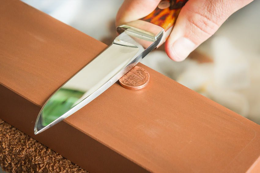 two-penny knife sharpening trick
