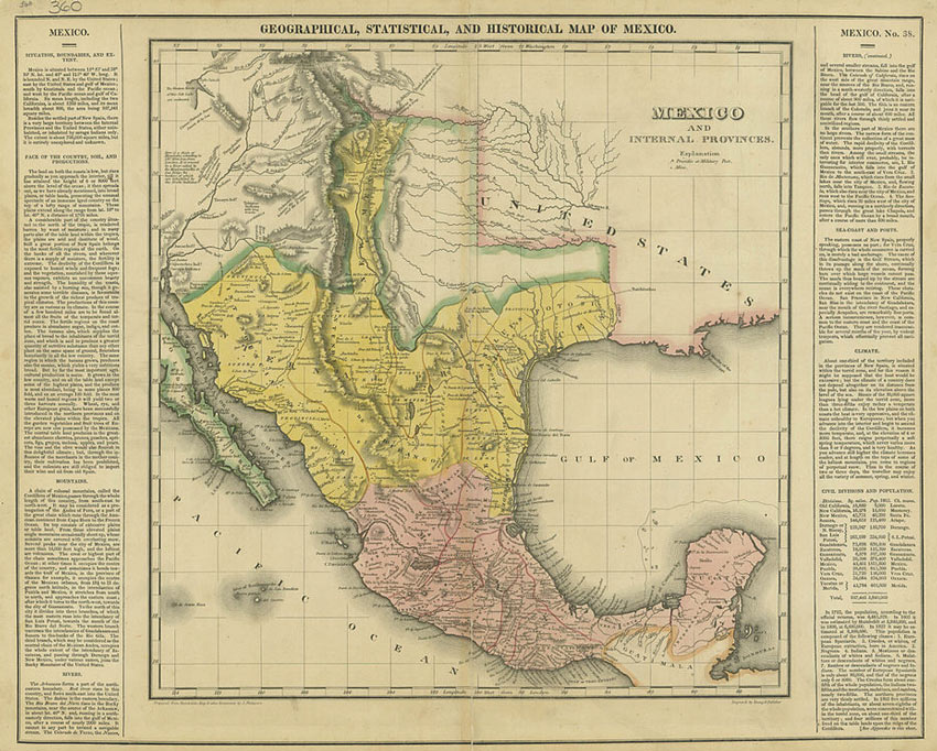 Mexico and Texas Map