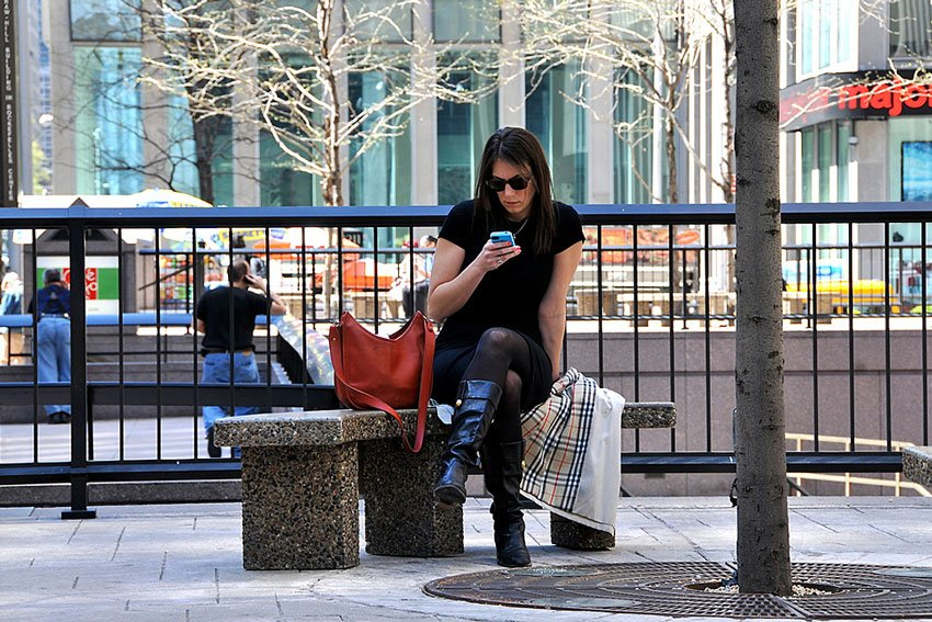 NYC Cell Phone by Flickr User FaceMe