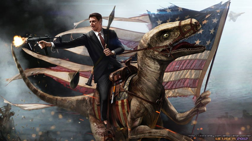 ronald_reagan_riding_a_velociraptor_by_sharpwriter-d55rsh7_m