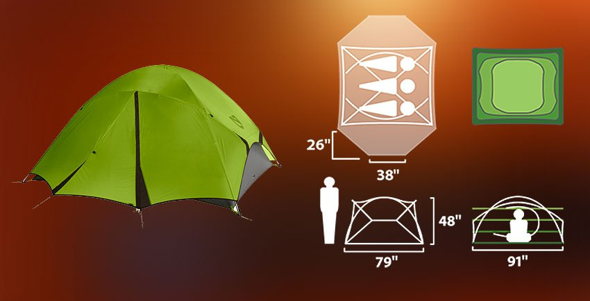 NEMO Equipment Losi 3P Tent Topo