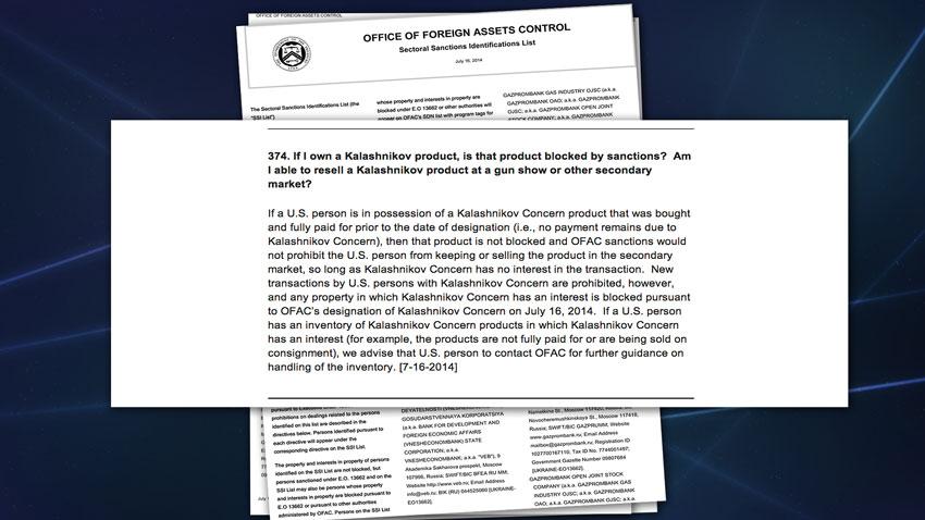 Executive Order 13662 FAQs