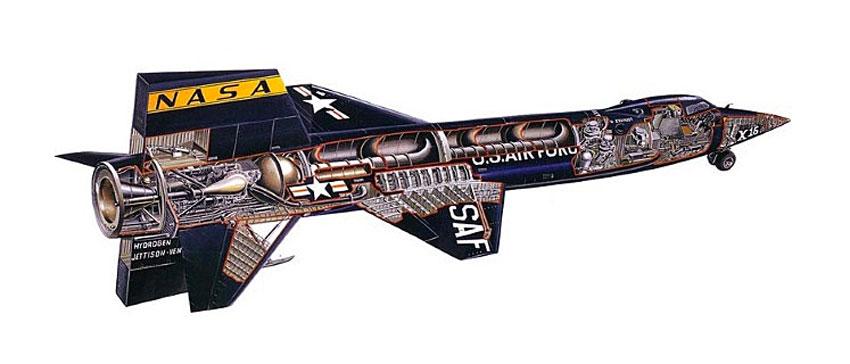 X-15 Aircraft Cutaway