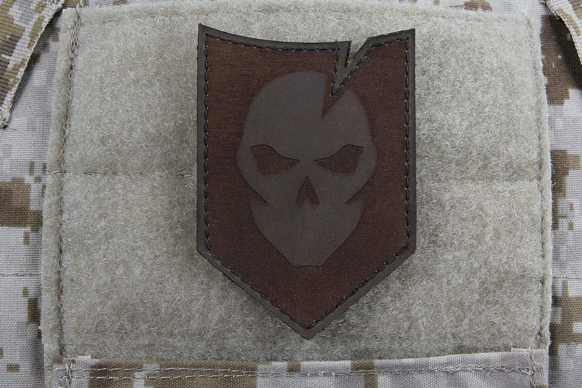 ITS Tactical Rustic Brown Leather Morale Patch