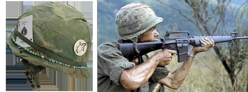 Vietnam War Helmet Graffiti