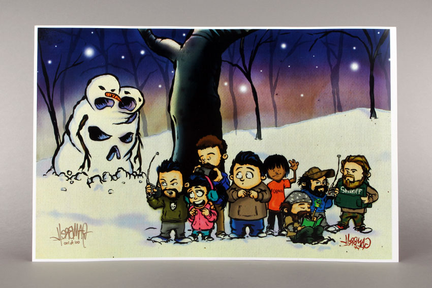 Limited Edition ITS Snow Goon and Crew Christmas Print