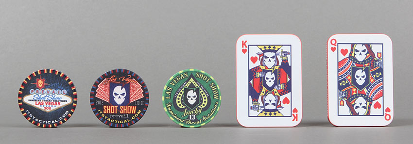 ITS SHOT Show Poker Chips and Casino Plaques