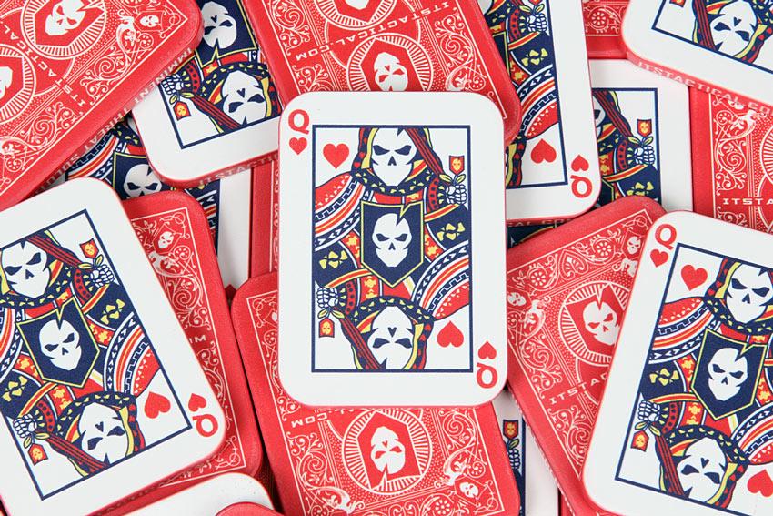 ITS Queen of Hearts Casino Plaque