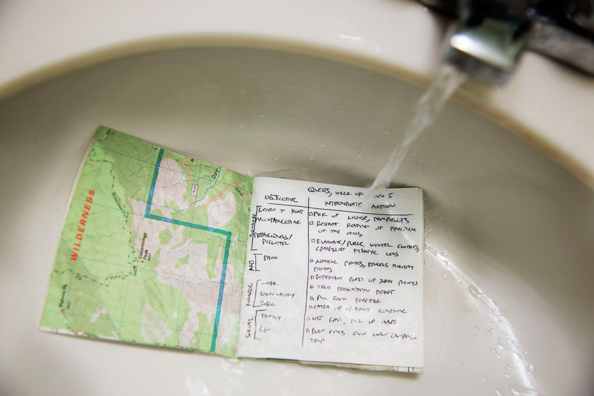 DIY Map Waterproof Notebook
