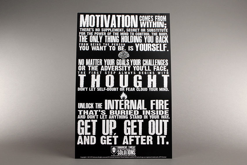 Motivation Comes from Within Poster