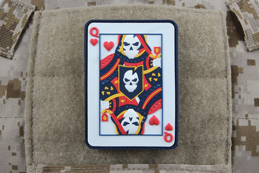 ITS Queen of Hearts PVC Morale Patch