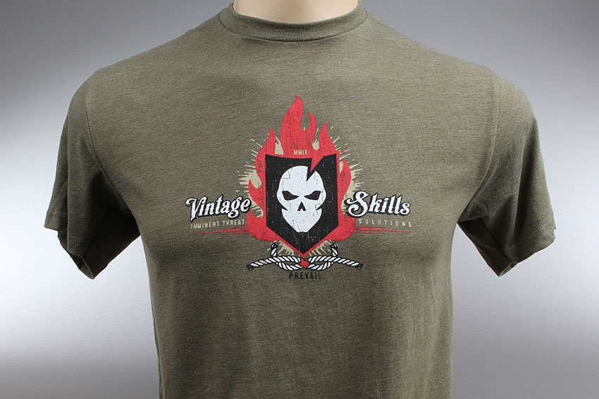 ITS Vintage Skills T-Shirt (Military Green)