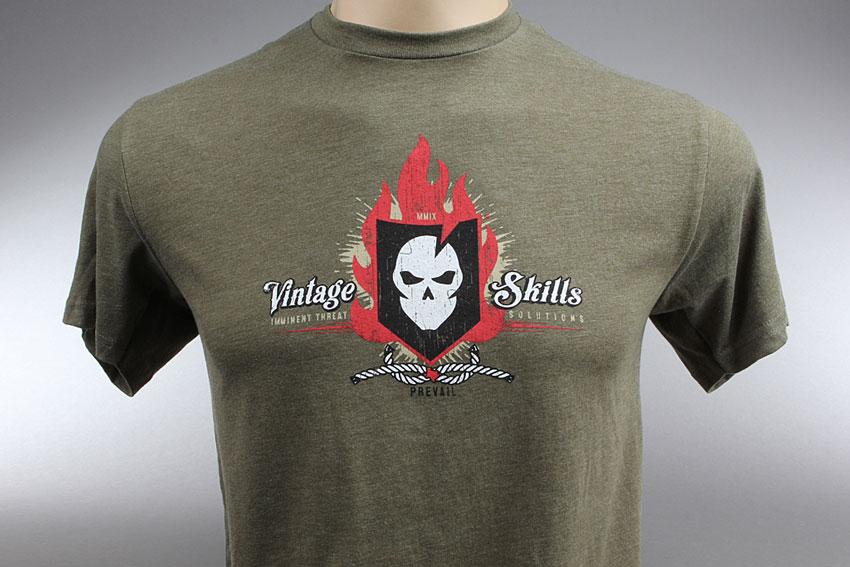 ITS Vintage Skills T-Shirt (Military Green)