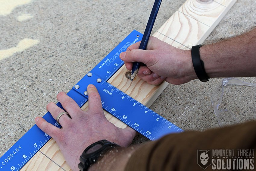 DIY Knife Throwing Target 01
