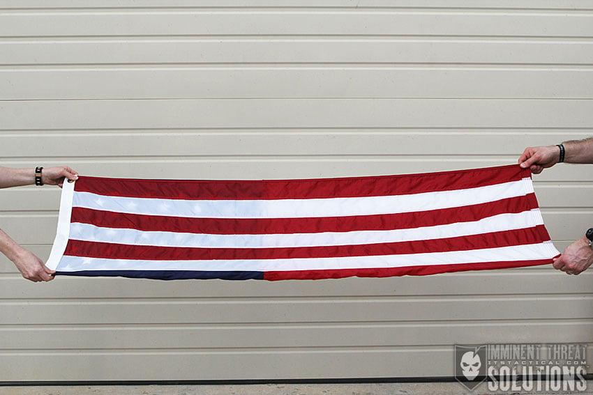 Folding an American Flag