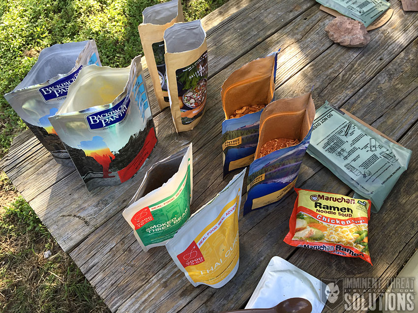 Outdoor Meals Group Contents