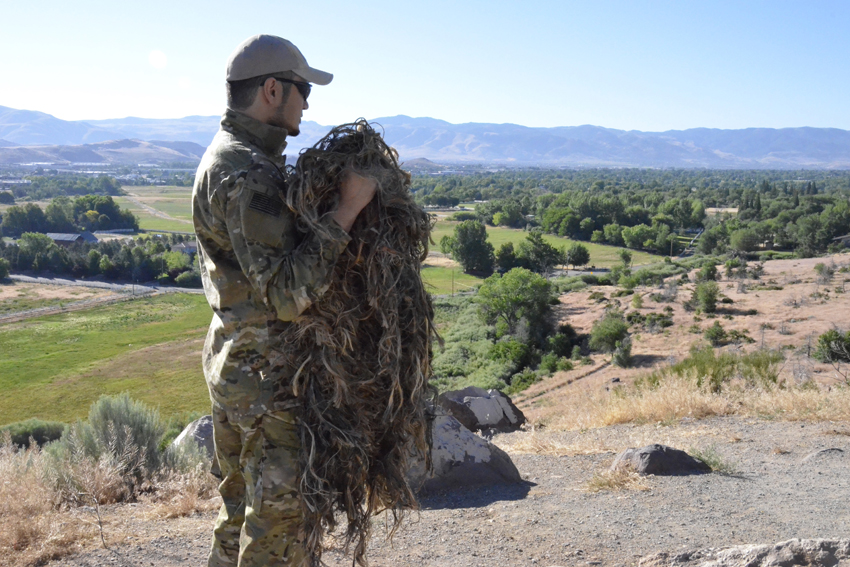 How To Spray Paint A Ghillie Suit