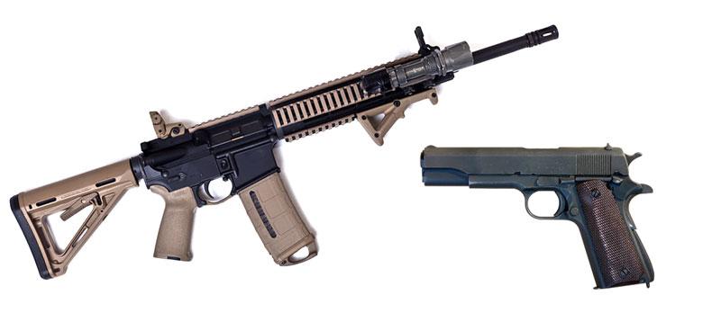 Image result for images of concealed gun vs AR-15