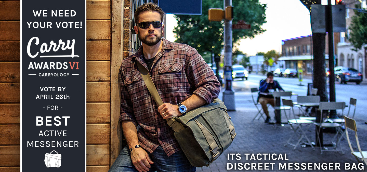Discreet Messenger Bag Carry Awards Featured