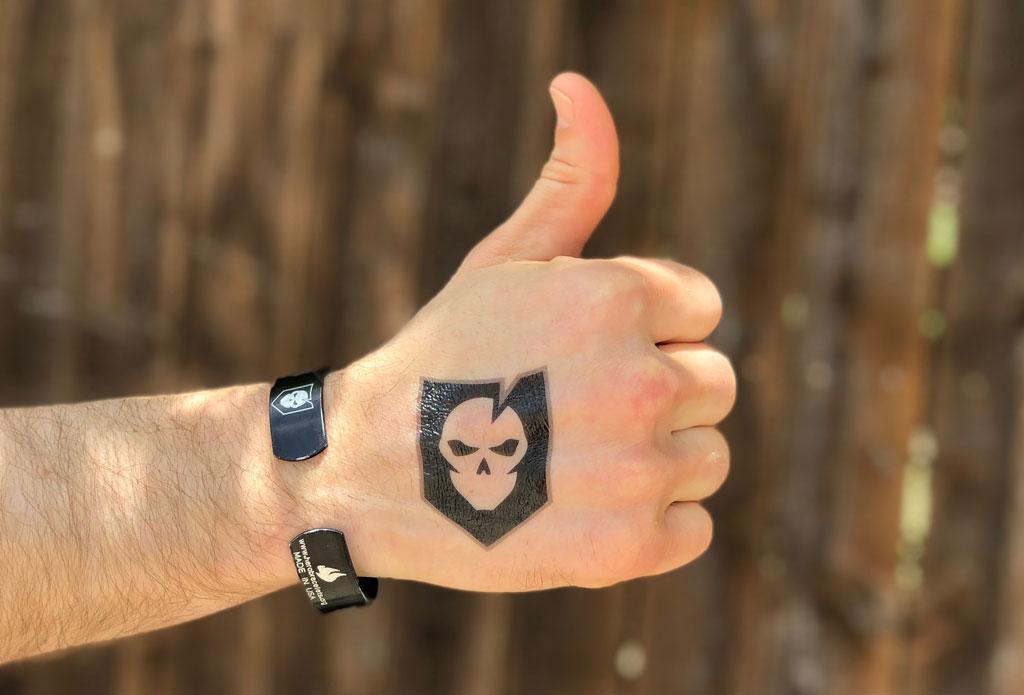 Bad to the Bone Logo Temporary Tattoo