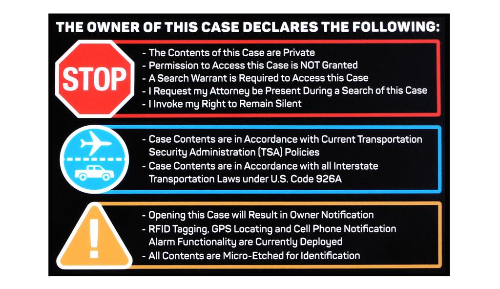 Travel Declaration Sticker Main