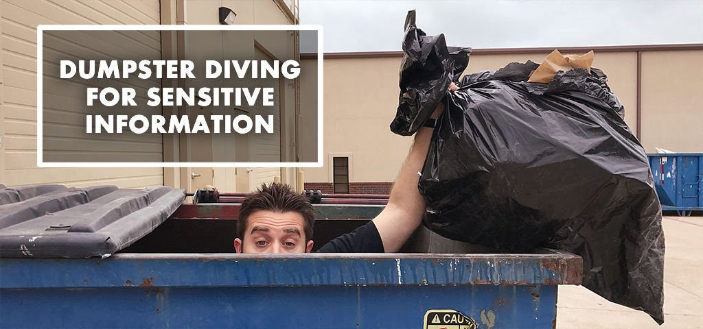 Dumpster Diving for Sensitive Information