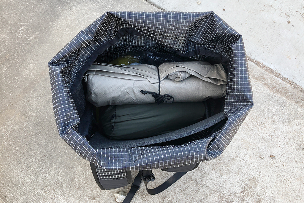ULA CDT Pack Top Down