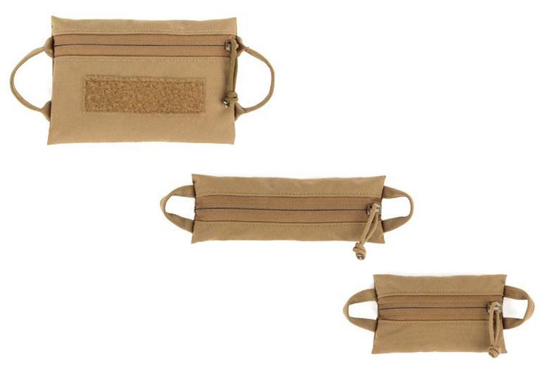 Coyote Nylon Zip Bags