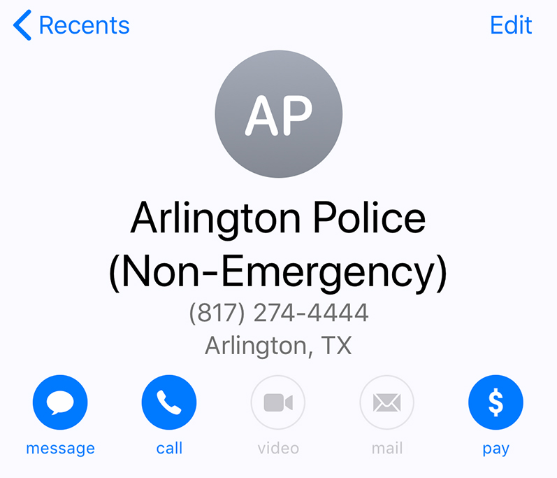 911 Outage Non-Emergency Numbers